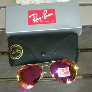 Brand New Hot Pink RayBan Aviators 58mm Never Worn